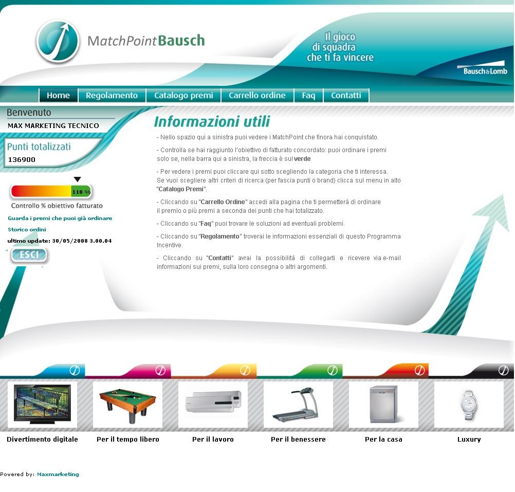 programma incentive Bausch & Lomb 2008
