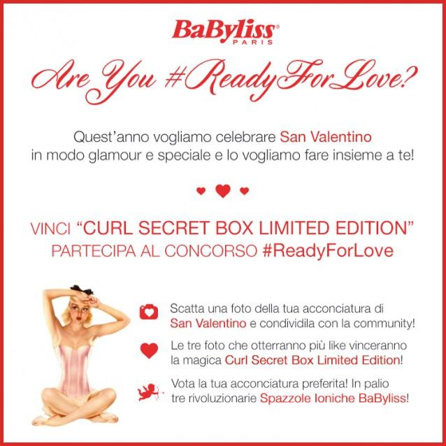 Concorso a premi in facebook Babyliss #ReadyforlLove