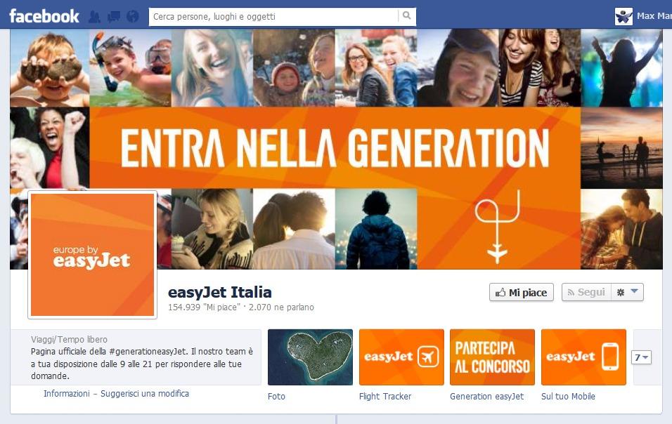 """Concorso a premi """"Enntra nella generation easyJet"""""""