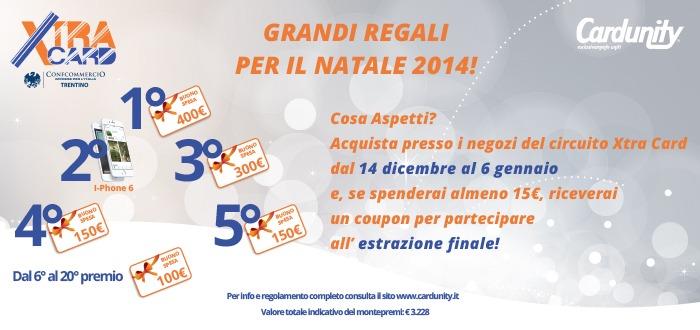 concorso a premi NATALE XTRA CARD cardunity