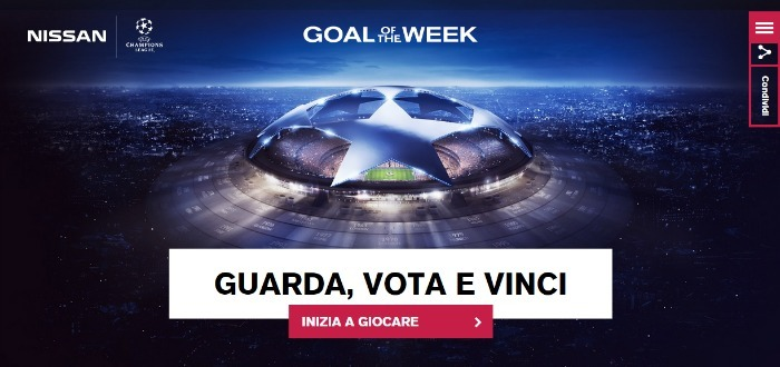 Concorso a premi Nissan 2015 Goal of the Week