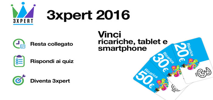 Concorso a premi 3xpert H3G Max Marketing
