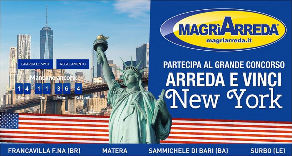 Concorso a Premi MagrìArreda: Arreda e vinci New York - Max Marketing