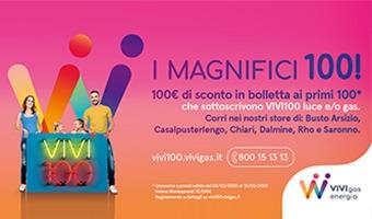 Concorso a premi VIVIGAS I MAGNIFICI-100