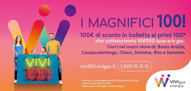 Concorso a premi VIVIGAS I MAGNIFICI-100 800
